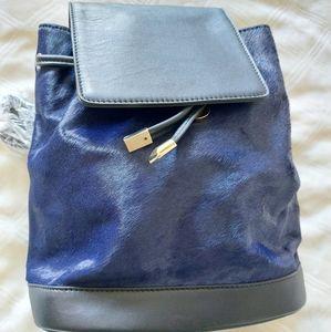 Peter Lang Yolanda Navy & Black Leather Backpack